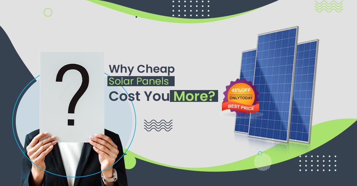 cheap solar panels cost